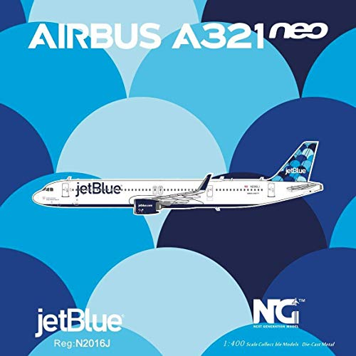 NG Model NGM13019 1:400 JetBlue Airbus A321neo Reg #N2016J (pre-Painted/pre-Built)