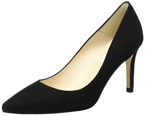 L.K. Bennett Damen Floret - Single Sole POI Pumps, Schwarz (Black), 39 EU