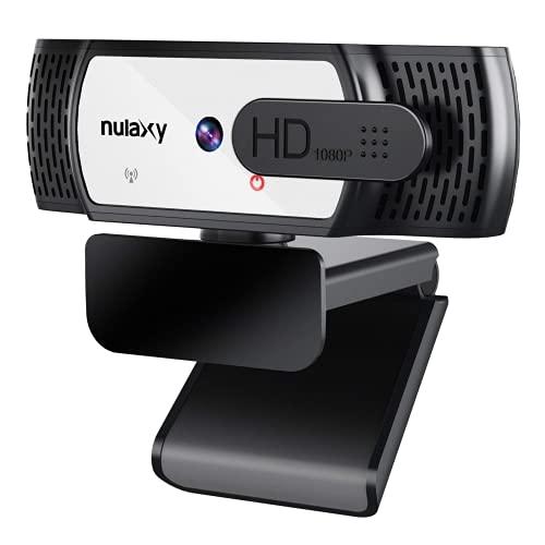 Nulaxy C906 Autofokus Webcam mit mit Stativ und Dual Stereo Mikrofon, FHD 1080P Webcam mit Abdeckung, USB Webcam Plug & Play für Video-Chat und Aufzeichnung, Kompatibel mit Windows/Linux/Mac/Android