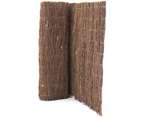 bambus-discount.com Sichtschutz Matte Heidekraut eco, 100 x 300cm, extra stark mit ca. 2,5kg/m² - Sichtschutzmatte Windschutz Staubschutzwand Staubschutzwände