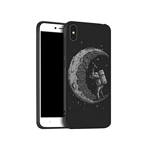 Mond-Astronaut Fall für iPhone XR XS Max X-Hüllen Schwarze gemaltes Telefon-Abdeckung für iPhone 7 8 7Plus 8Plus 6S 6Plus 11 Pro Case,für iPhone XS Max,x054