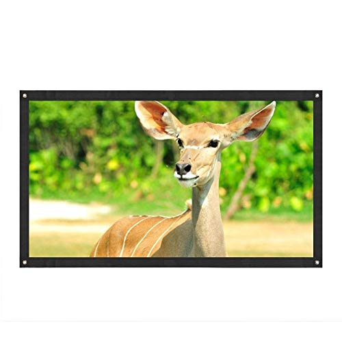 84 Inch Projector Screen 16: 9 HD Anti-Crease Foldable Portable Projection Movies Screen with Peel and Hooks, Best for Movie Home Theater Outdoor Indoor or Office Presentation