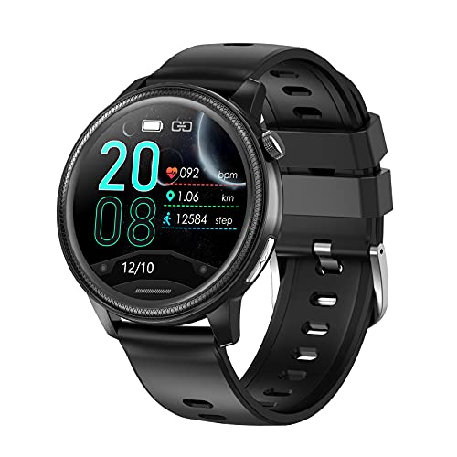 N \ A Relojes Inteligentes para Hombres, Reloj con Monitor de sueño, Relojes Bluetooth con Pantalla táctil de 1.28', IP67 a Prueba de Agua, Reloj Inteligente para teléfonos Android y teléfonos iOS