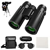 Usogood 12X50 Binoculars for Adults with Tripod, Waterproof Compact Binoculars for Bird Watching