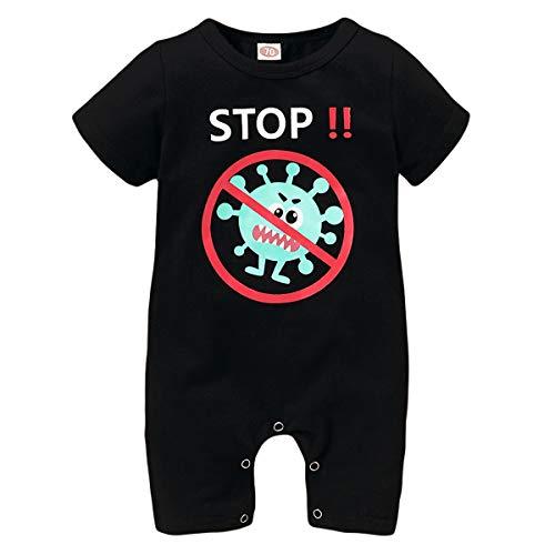 SunshineFace Cutely Newborn Baby Romper Korte Mouw Stop Print Peuter Jumpsuit