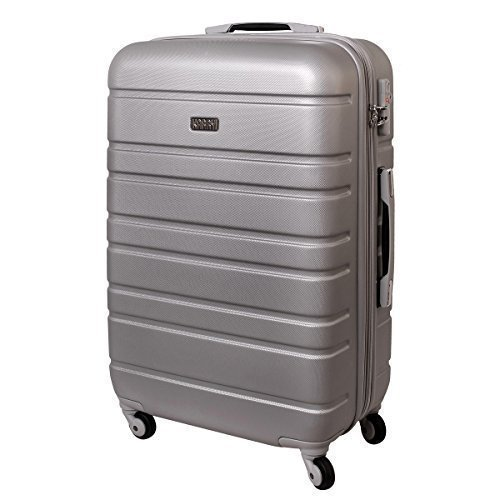 XL Hartschalen Koffer TSA Zahlenschloss Trolley 80 Liter Silber 815 B