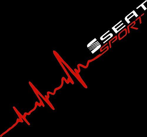 Herzschlag Aufkleber