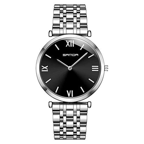 GLEMFOX heren stalen horloge eenvoudige Romeinse cijfers wijzerplaat klassieke business herenhorloge doos armband #2