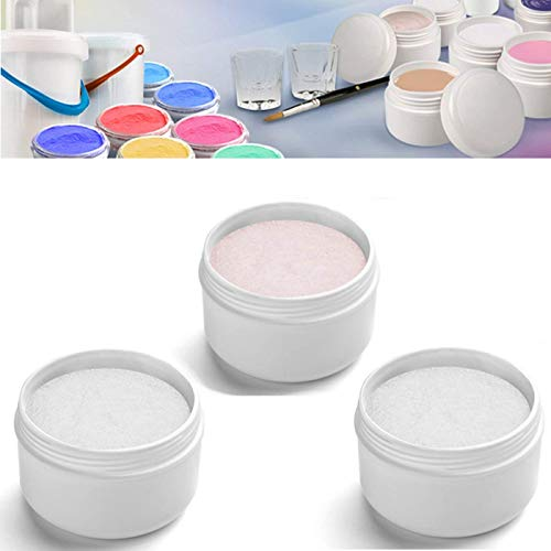 EuBeCos Acryl Luxus Puder Monomers 30g ROSÈ + 30g WEISS + 30g KLAR = GESAMT 90g Acrylpulver MADE IN GERMANY und 100% PBO-FREI! im VORTEILSPACK
