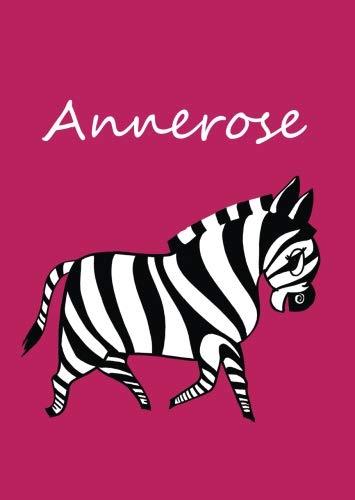 Annerose: personalisiertes Malbuch / Notizbuch / Tagebuch - Zebra - A4 - blanko