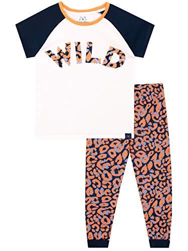 Harry Bear Mädchen Schlafanzug Leopardenmuster Weiß 140