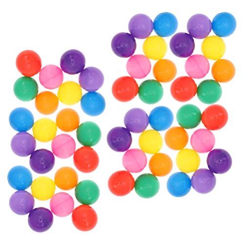 Toddmomy 100Pcs Plástico Ocean Ball Mini Bolas a Prueba de Aplastamiento Jugar Bolas Pit Balls Playballs Juguete Niños Playhouse Decoración del Partido 5. 5Cm (Colores Surtidos)