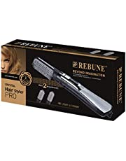 REBUNE 1200W RE-2024-2 Hair Electric Comb Fast Heating Hair Styler with 2 Brush