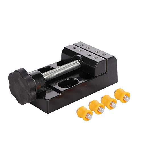 Tornillo de banco para reloj, alicates fijos con tuerca giratoria 360, uso pesado para herramientas de soporte de caja de reloj Suministros de reparación de relojes Pieza de trabajo de