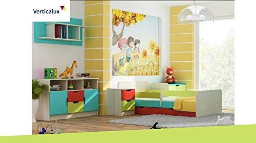 VERTICALUX KINDERMÖBEL SET EIN Lot de 5 pièces pour Enfant Winnie l'ourson 4 avec lit. Amusez-Vous en Toute sérénité pour Votre Enfant