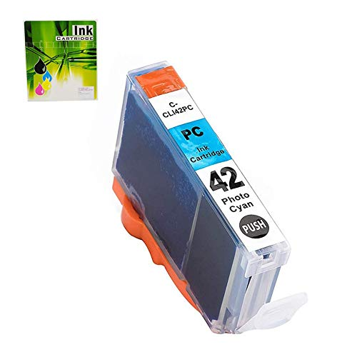 CLI42 Photo Cyan Ink Cartridge 1 Pack, NEXTPAGE Compatible Ink Cartridges Replacement for Canon CLI 42 Ink Cartridge Photo Cyan Work with Canon PIXMA PRO 100, CLI42 PC Ink 1 PK ( CLI42 Photo Cyan )