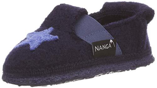 Nanga Kinder - Unisex Kinder Hausschuhe Shining Star dunkelblau 29