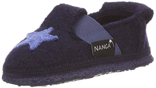 Nanga Kinder - Unisex Kinder Hausschuhe Shining Star dunkelblau 30