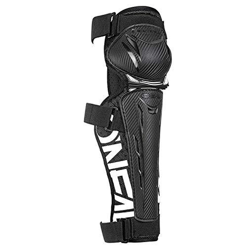 Oneal Trail FR Carbon Look Knee Guard schwarz/weiß MX Motocross Protektoren, Unisex, Schwarz/Weiß, L