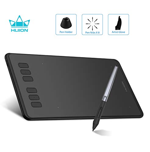 HUION Inspiroy H640P(OTG-Version) batterieloses Grafiktablett 8192 Stufen der Stiftdrucksensitivität für Einsteiger in die Malerei Grafiktablett mit Display handschuh Drawing Tablet Digital Tablet