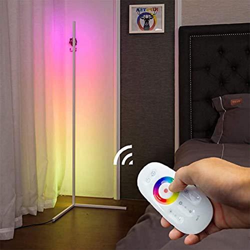 Izzya Smart Stehlampe RGB Stehlampe Dimmbar LED Colorful Eck-Stehleuchte Mit Fernbedienung Für Bar Café Wohnzimmer Schlafzimmer Büro,Weiß