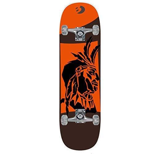 Best Sporting Skateboard Indian Arts Komplettboard ABEC 5, belastbar 100 kg (orange)