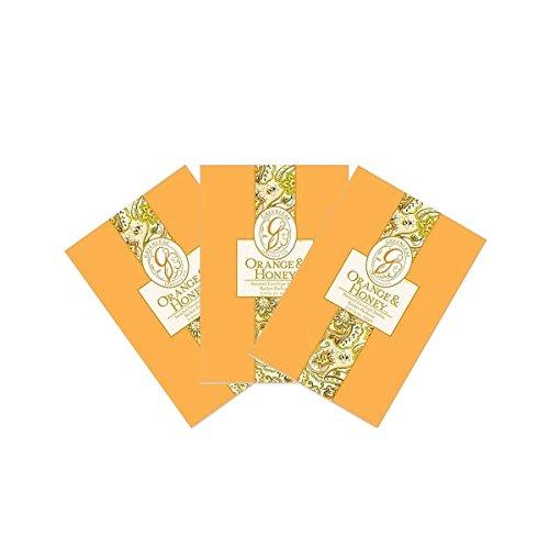 3PACK Greenleaf Duftsachet/Duftbeutel Duft Sachet 115ml–Orange & Honey