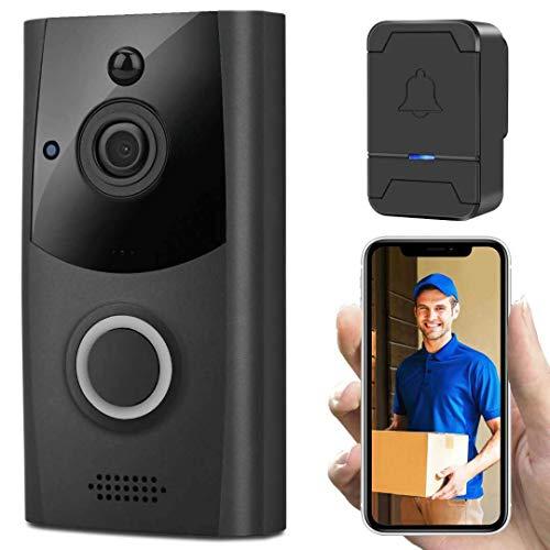 WiFi Video Timbre, nuevo inteligente de baja potencia WIFI batería Timbre remoto teléfono móvil Monitoreo inalámbrico impermeable nube almacenamiento video portero