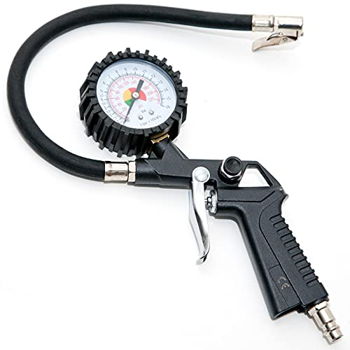 Reifenfüllmesser passt für Kompressoren, Arbeitsdruck bis 12 bar, mit Manometer