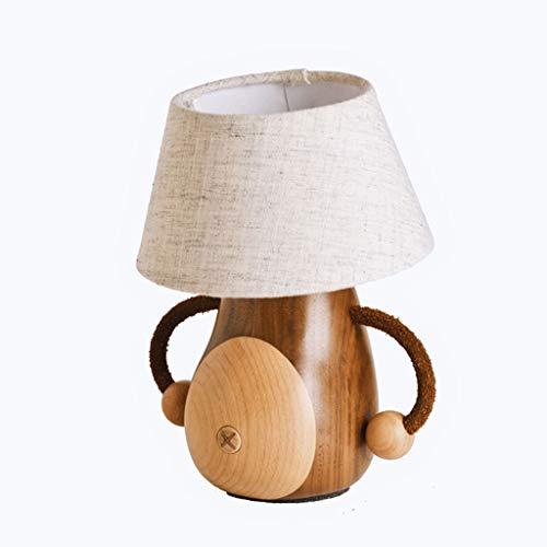 Cintura pequeña creativa Lámpara de mesa del hígado Cuerda umbilical del interruptor de algodón y lino Lámpara de lino Niños Escritorio de la cama Lámpara de mesa de dormitorio simple Lámpara