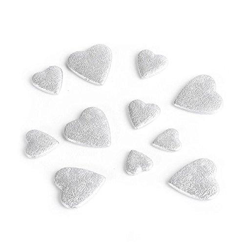 Chaks 02003-002 - Sachet de 50g de cœurs 3D, Argent
