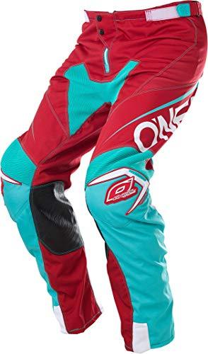O\'NEAL   Motocross-Hose   Enduro Motorrad   strapazierfähige Denierstoffe, mit großer Bewegungsfreiheit, Athletische Passform   Pants Mayhem LITE Blocker   Erwachsene   Rot Blau   Größe 34