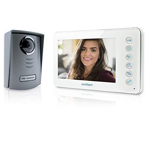 Avidsen 112240 Videoportero Sistema de intercomunicación de video, 11.5 W, 13.5 V, Gris, Blanco
