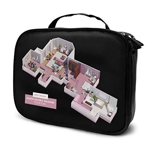 Trousse de Maquillage Pochette cosmétique Jolie Femme Plan d'étage Kit de Voyage pour Sac Multifonctionnel