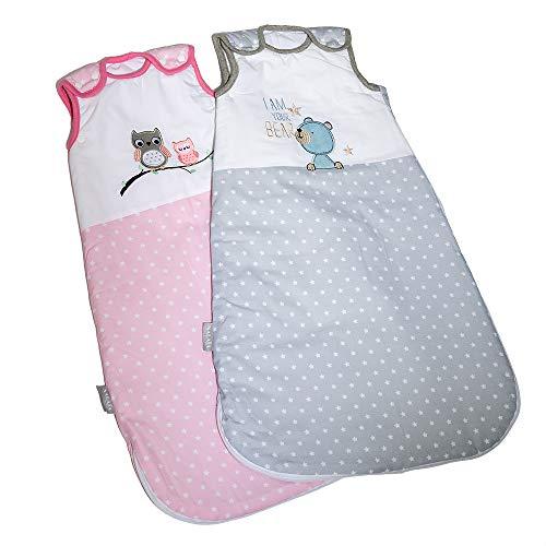 Nalaa - Premium Babyschlafsack aus OEKO-TEX 100 zertifizierter Bio Baumwolle fr sicheren und gesunden Babyschlaf von deutschem Unternehmen | ganzjhrig 2,5TOG | Gr. 56/74 | 0-8 Monate