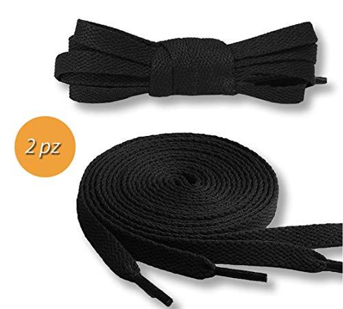 Takestop® Veters schoenen Set 2 stuks zwart ronde veters schoenen kabel ronde laarzen, 120 CM