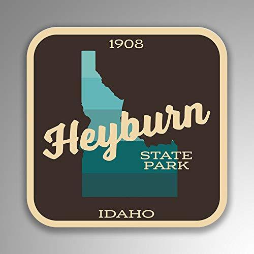 Lplpol Funny 4 'Vinilo adhesivo de Heyburn State Park Idaho (2 unidades) para ordenador portátil botella de agua teléfono coche
