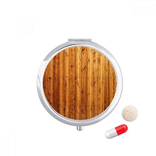 DIYthinker Oranje Houten Vloer Behang Textuur Reizen Pocket Pill case Medicine Drug Opbergdoos Dispenser Spiegel Gift