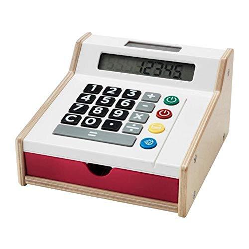 Ikea DUKTIG 802.565.01 Wiederaufladbare Kinder-Spielzeugkasse mit Spielgeld und Kreditkarten im Format 19 x 18 x 11 Zentimeter