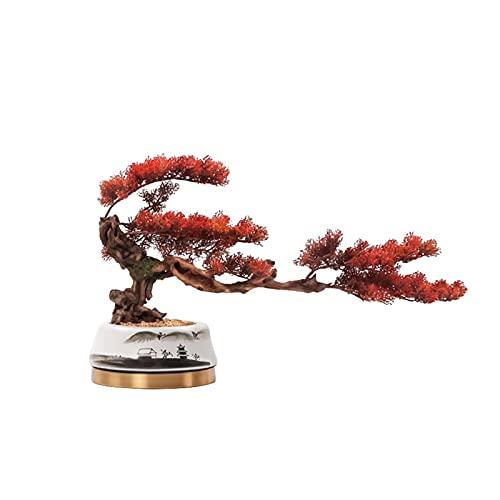 YUXINYAN Decorar 14.17 Pulgadas Nueva simulación China Pine Rojo Bonsai Árbol de simulación Jardín al Aire Libre Decoración del hogar Árbol de simulación Planta Artificial Adornos