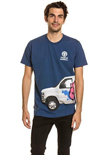 Franklin & Marshall Men's T-Shirt Blue, tamaño:XXS