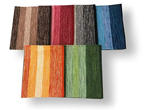 SpazioTessile Tappeto Stuoia Cucina Multiuso 100% Cotone Indiano Sfumato 6 Misure 6 Colori CH (Beige, 55x230)