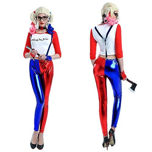 Halloween Clown Vrouwelijke pak Volwassen Anime Cosplay Zelfmoord Squad Role-Playing Suit Night Club Circus Clown Kostuum