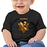Classic Cute Newborn Baby Boy Girl Round Neck Short Sleeve TeesToddler Tshirt-Rick Ross 18M Black