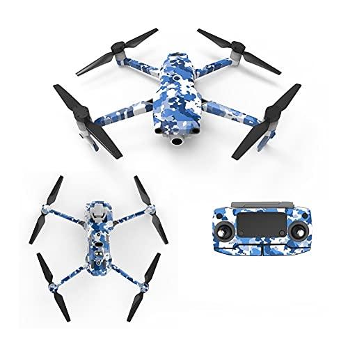 YXYX Drone Accessori Del Corpo Della Pelle Viscosa Adesivi Decalcomanie Batteria Telecomando Adesivo Per D&JI Per Mavic 2 Per Per Per Per Pro Zoom Drone Accessori Parti UAV (Colore: Blu)