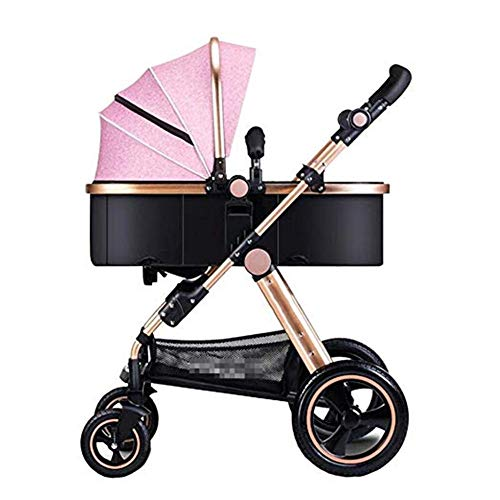 Best Price ETERLY Baby Stroller can sit Reclining Folding Four Seasons Universal Children Portable T...
