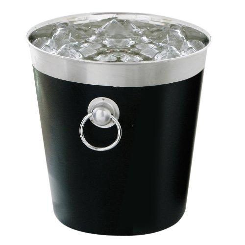 Premier Housewares - Champanera con borde de acero inoxidable y asas de...