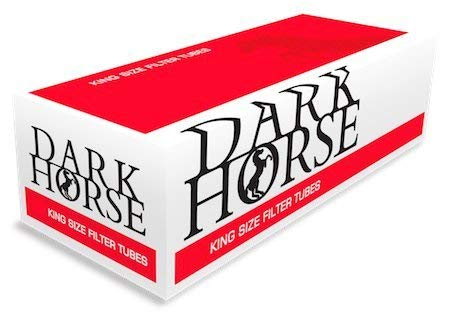 Dark Horse 1000 Zigarettenhülsen Filterhülsen mit Filter Zigaretten-Hülsen Zum Stopfen von Zigaretten mit Tabak und Zigarettenstopfer Hülsen
