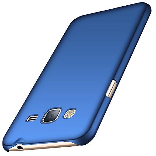 Anccer Cover per Samsung Galaxy J3 2016 [Serie Colorato] di Gomma Rigida Protezione Da Cadute e Urti Compatibile con Samsung J3 2016 (Azzurro liscio)