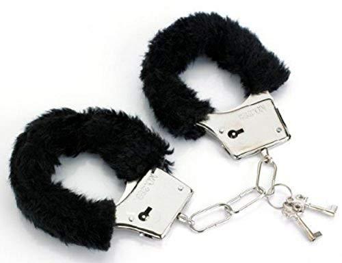 LILITRADE Metallhandschellen Metallhandschellen mit Plüschhandschellen für Kinder Die Polizei TUT so, als ob sie Requisiten und Männer und Frauen wären